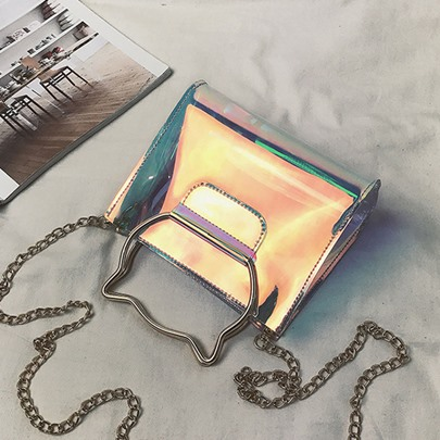 PVC Zipper Mini Women Shoulder Bag