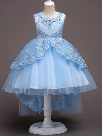 Appliques Beading Ball Gown Girls Party Dress