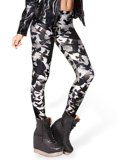 Mid-Waist Animals Printed Women's Leggings