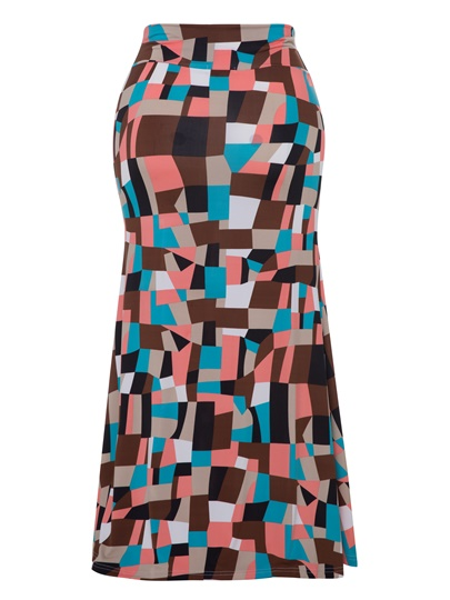 Color Block Floor-Length Women's Skirt