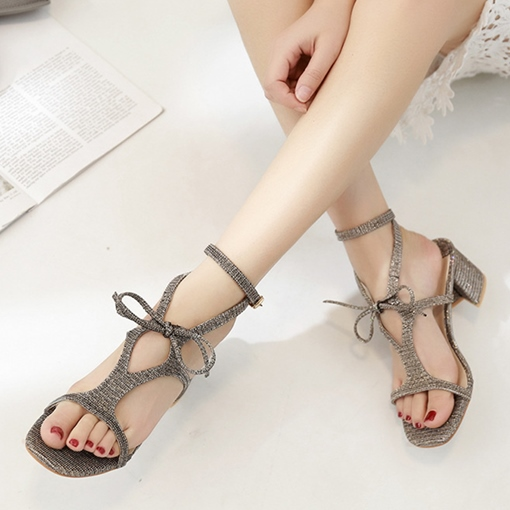 Thick Heel Shoes Buckle Women's Sandals
