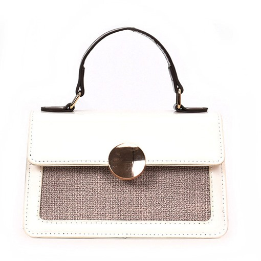 Fresh Plain Synthetic Leather Soft Tote Bag