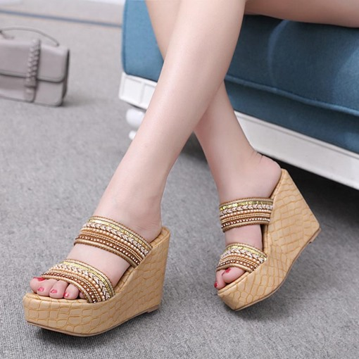Platform Shoes Wedge Heel Women's Flip Flops