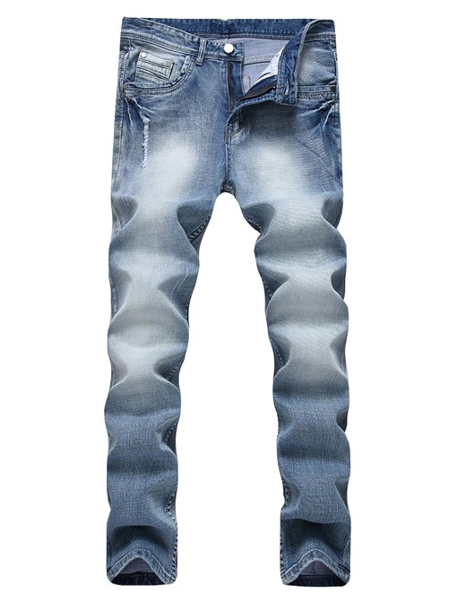 Elastic Plain Slim Men's Jeans