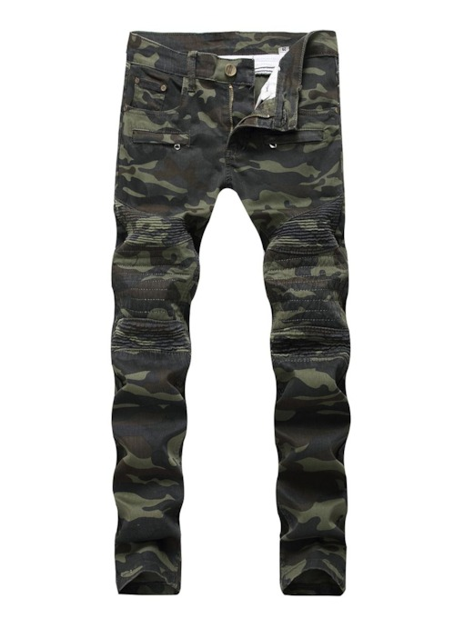 Camouflage Straight Casual Men's Jeans