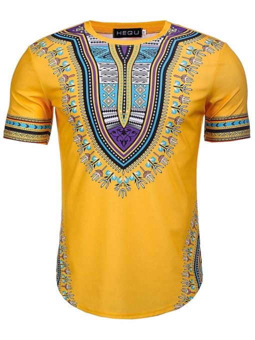 Dashiki African Print Bright Color Mens T-Shirt