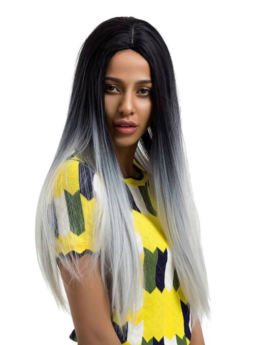 Long Straight Women Synthetic Hair Capless Wigs 28 Inches