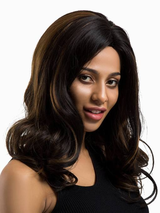 Big Curly Women Synthetic Hair Capless Wigs 18 Inches