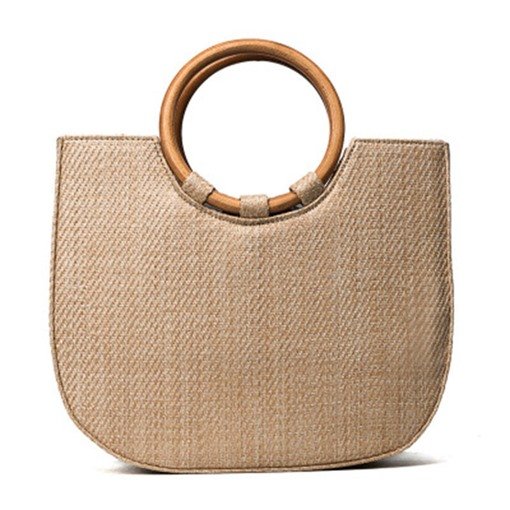 Modern Style Grass Knitted Tote Bag