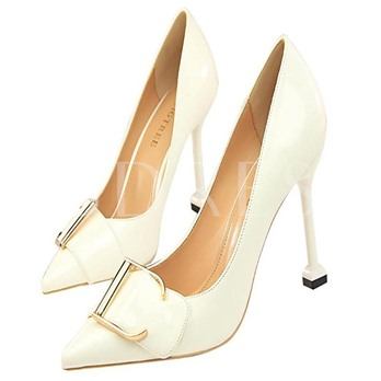 Patent Leather Plain Shoes Pointed Toe High Heels