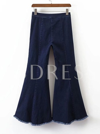 Bell-Bottom Women's Denim Jeans Trousers