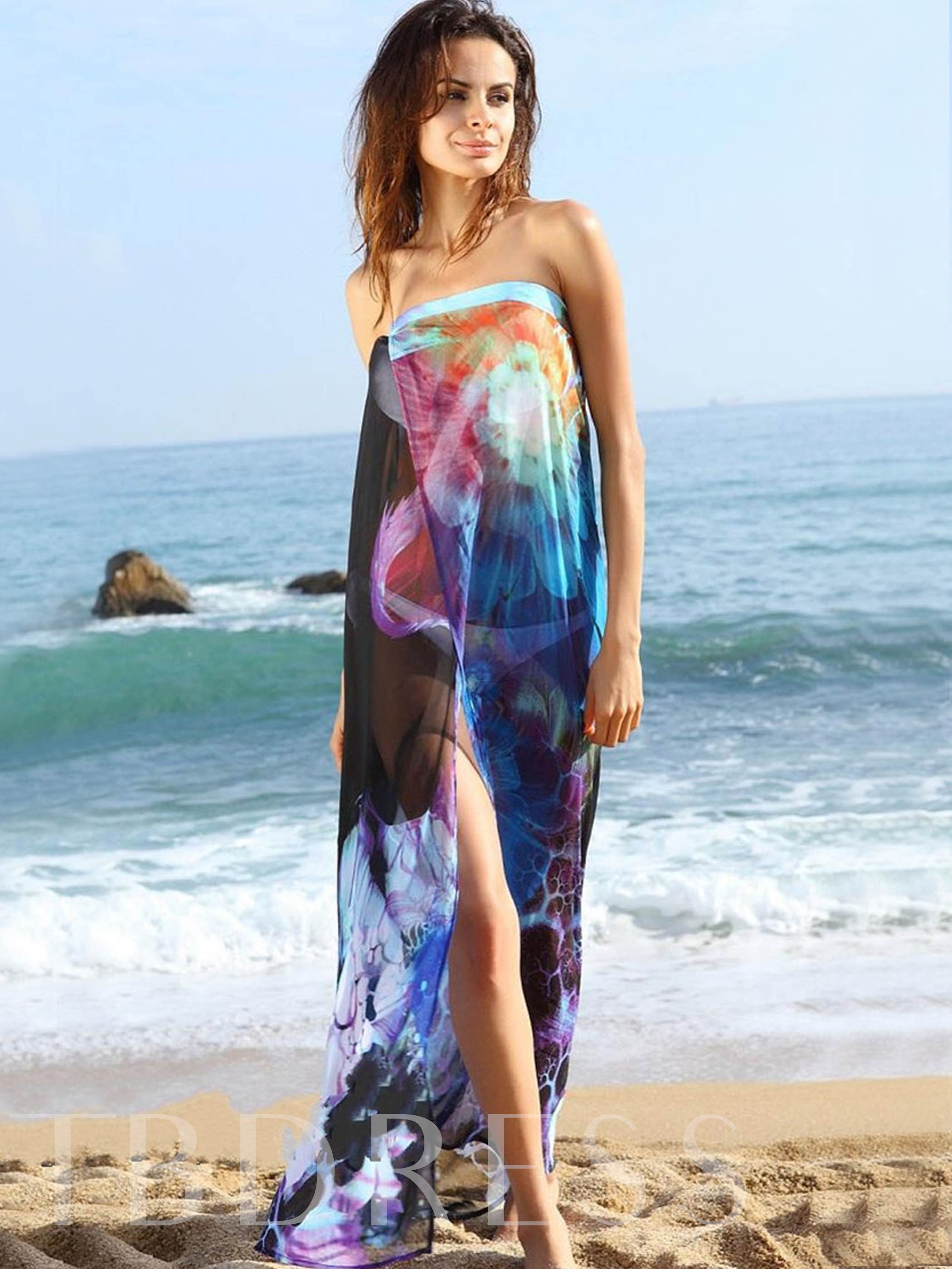 Print Beach Cover-Up&Wraps