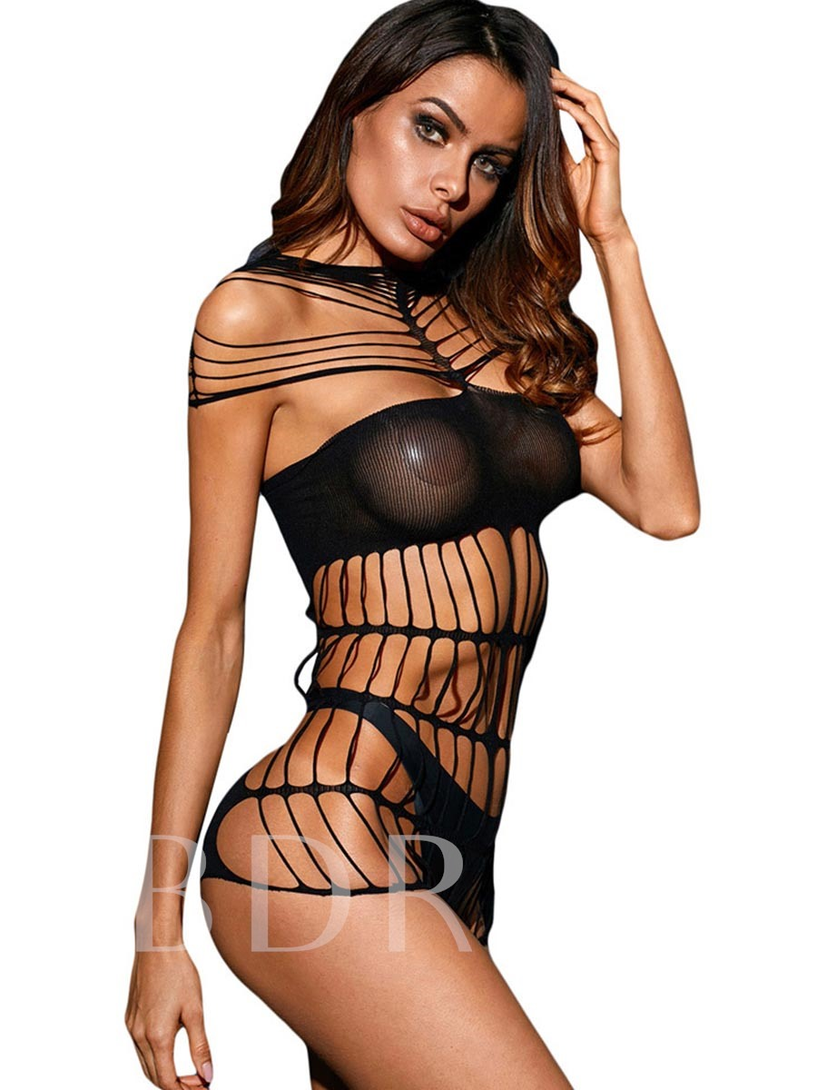 Sexy Lingerie Hollow Mesh Chemise