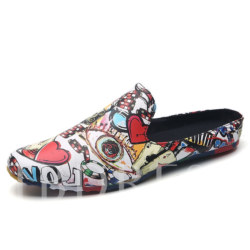Printing Shoes Men's Slippers