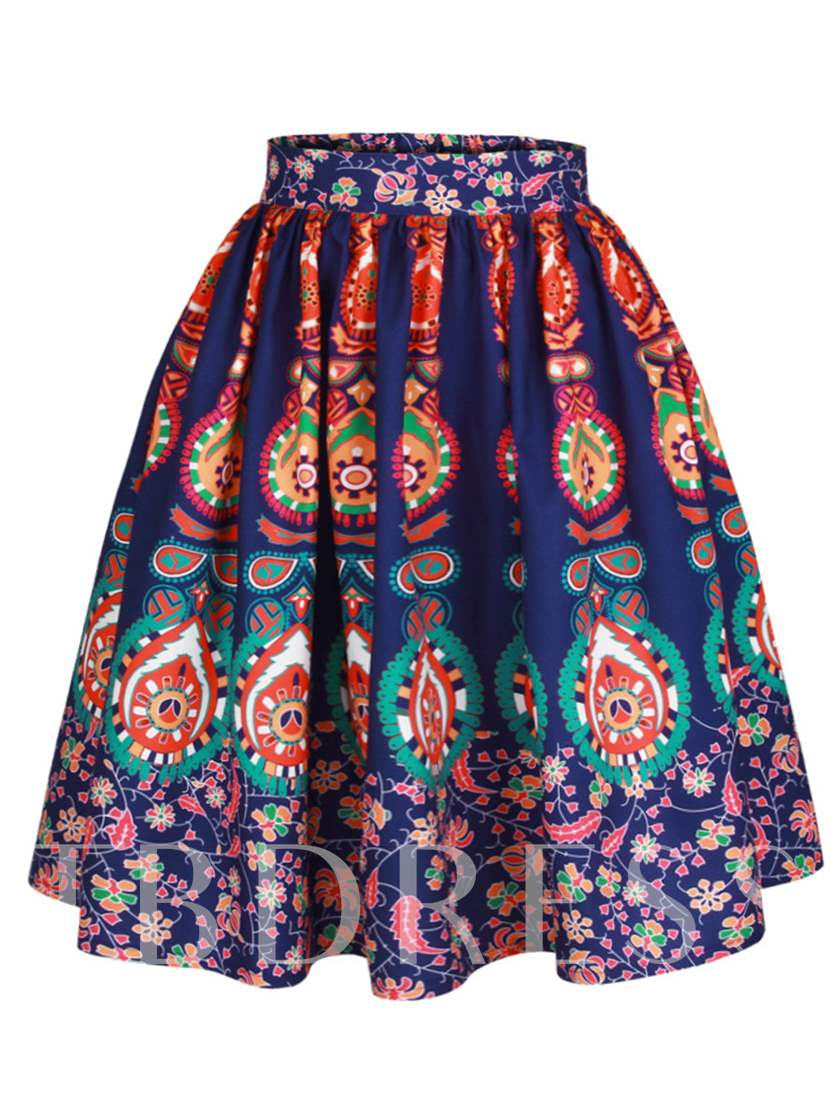 Floral Print Totem Women's Ball Gown Skirt