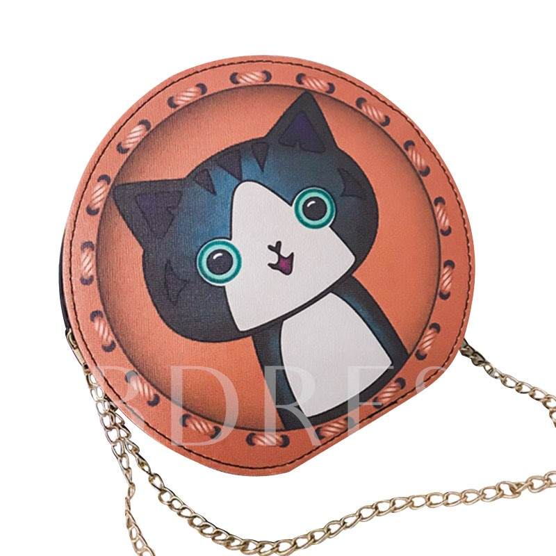 Cute Animal Circular Women Shoulder Bag