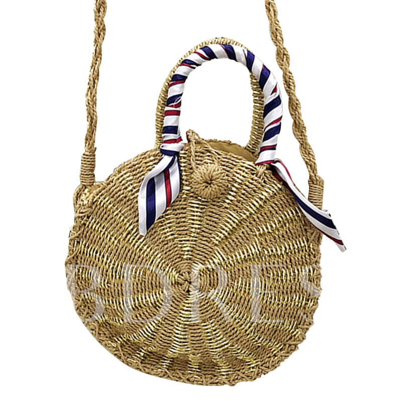 Fashion Grass Knitted Small Women Tote Bag