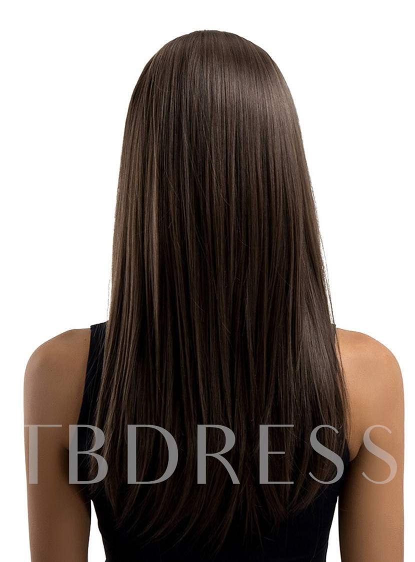 Long Straight Synthetic Hair Capless Wigs 22 Inches