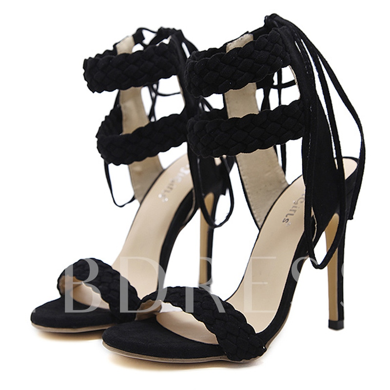 Buy Pale Blue Sandals Ankle Strap Women's Chic Sandals, Spring,Summer, 13244195 for $38.56 in TBDress store