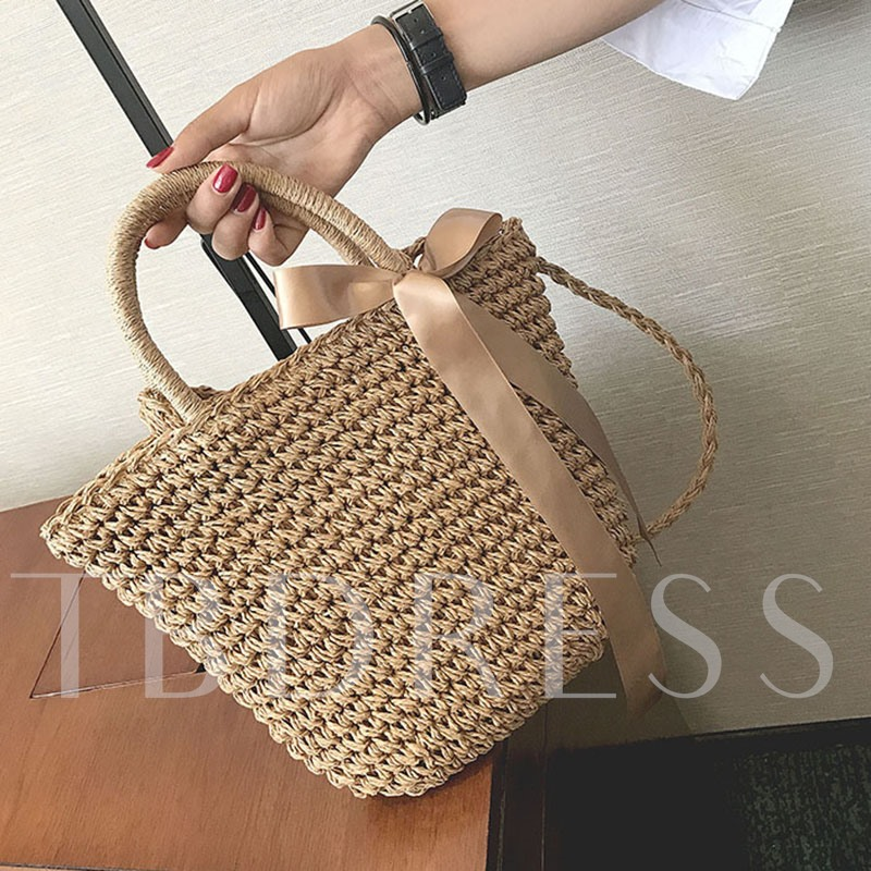 Vintage Grass Knitted Shoulder Bag