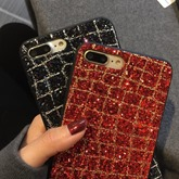 Apple X/8 Plus All-inclusive Glitter Frosted Phone Shell