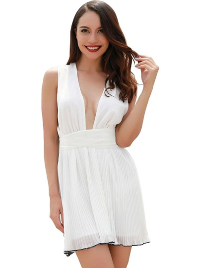 Sexy Plunging V Neck Women's Party Dress