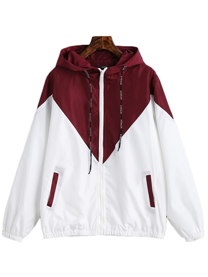 Zipper Up Jacket For Women With Hood And Pocket
