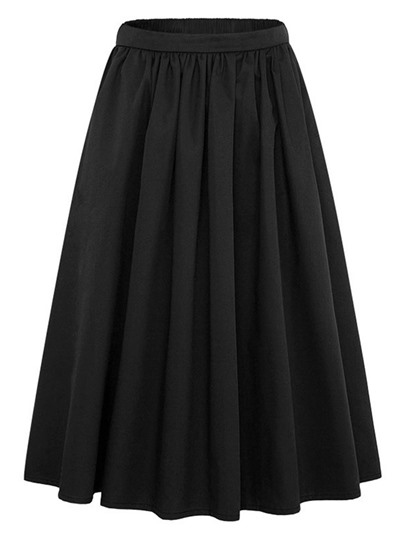 Plain Pleated Women's Skirt