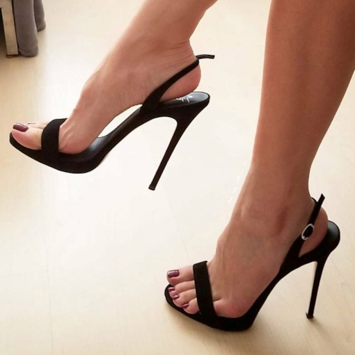 Slingback Strap Stiletto Heel Buckle Open Toe Womne's Sandals