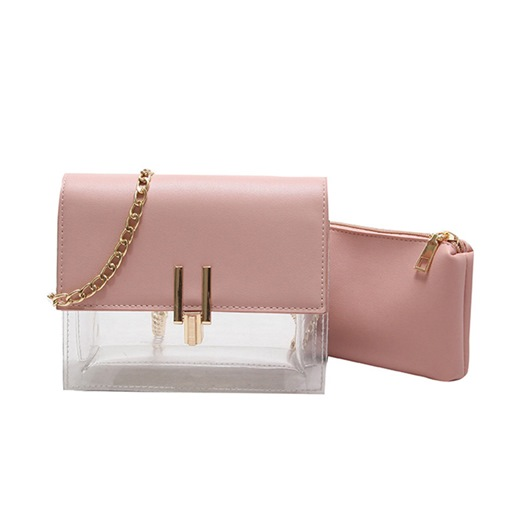 Fashion PVC Hasp Chain Crossbody Bag