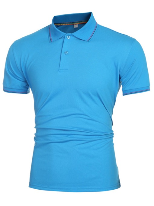 Solid Color Plain Slim Fit Men's Polo