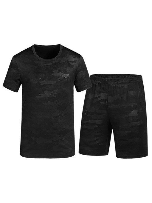 Camouflage Plain Men's Sports Suit