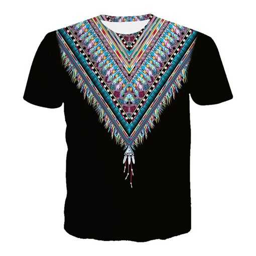 Tassels Dashiki Slim Men's T-Shirt