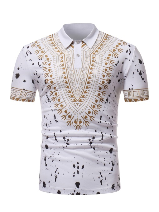 Dashiki Style Slim Men's Polo