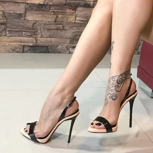 Stiletto Heel Open Toe Slingback Strap Women's Sandals
