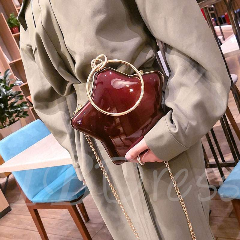 Novelty Star Chain Women Cross Body Bag