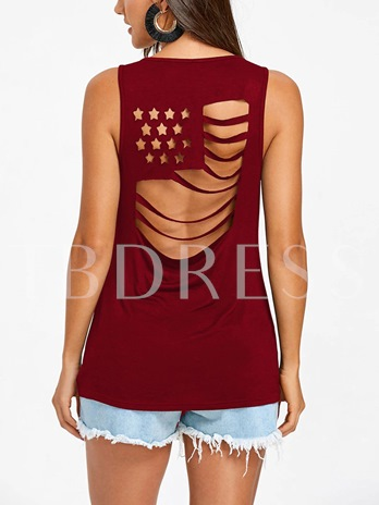 Chic American Flag Women's Tank Top