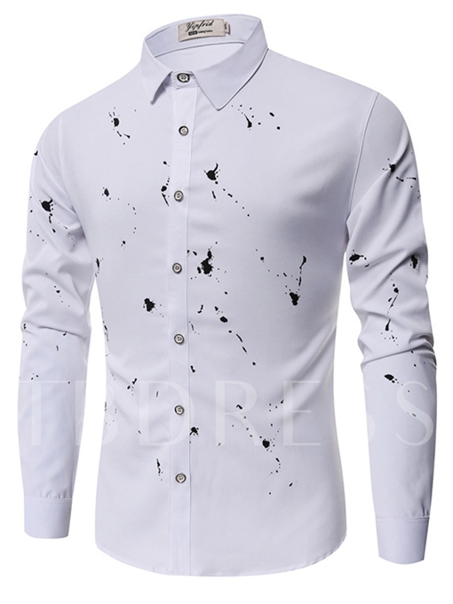 Splash-Ink Plain Slim Men's Shirt