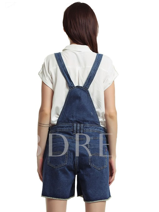 Loose Denim Short Women's Overalls