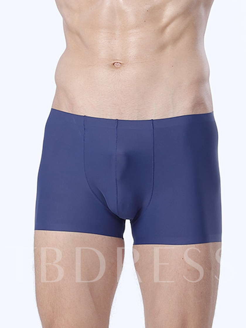 Thin Breathable Seamless Ice Silk Boxer Briefs for Men