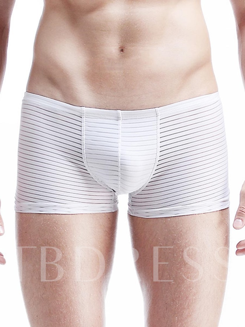Seamless Breathable Thin Ice Silk Boxer Briefs for Men