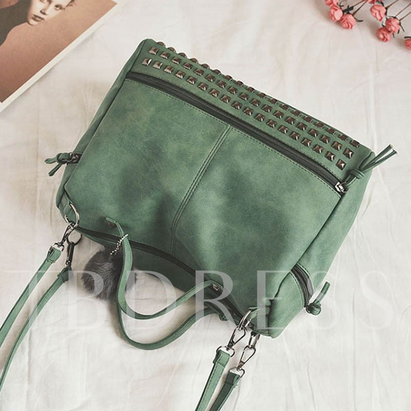 Punk Motorcycle Rivet Tote Bag
