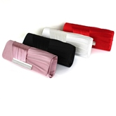Plain Synthetic Leather Women Clutches