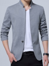 Stand Collar Leisure Slim Fit Men's Blazer