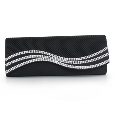 Luxury Style Water Ripple Magnetic Snap Clutches