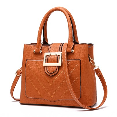 Vogue High Quality Belt Decorated Tote Bag