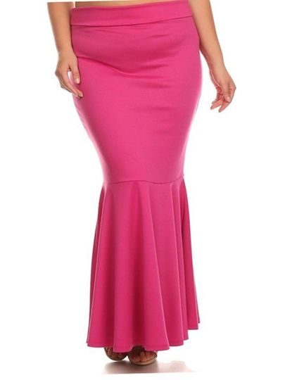 Plain Bodycon Pleated Women's Skirt