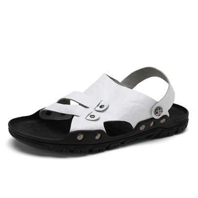 Rubber Sole Slip On Sandals for Men