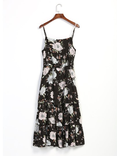 Summer Print Sleeveless A-Line Day Dress