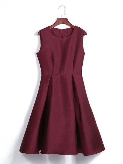 Round Neck High Waist Sleeveless Day Dress